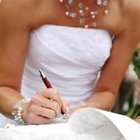 A bride's name changing options